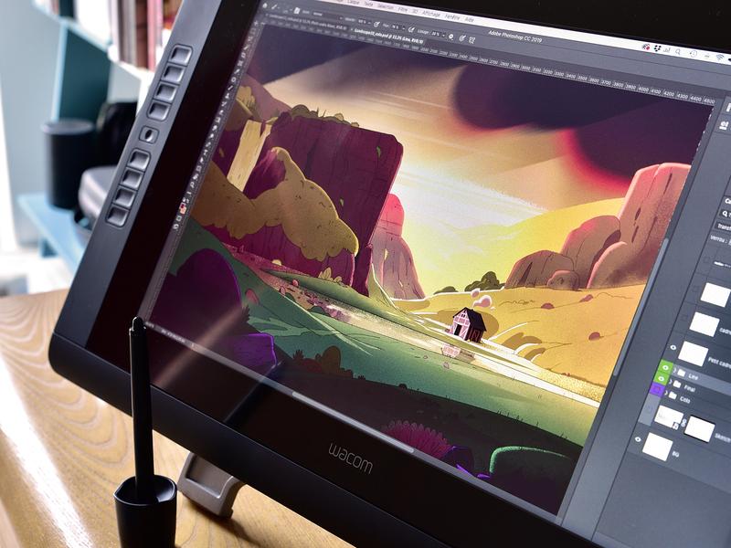 Landscapes Collection   Process landscape sketch painting digital concept-art color photoshop illustration