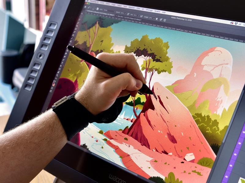 Landscapes Collection   Process cintiq landscape sketch draw painting digital concept-art color photoshop illustration