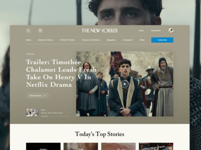 Weekly UI #003 - The New Yorker Homepage Refactoring