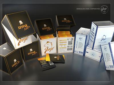 Mongolian camel corporation 'INGE' package design packaging branding design camel mongolia