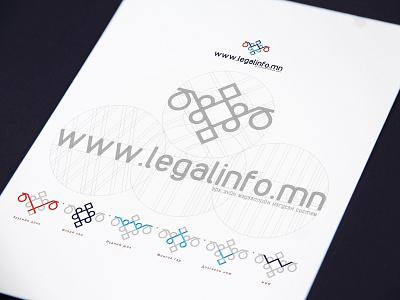Legal Info Logo Design logodesign ornament branding icon illustration logo design mongolia legal