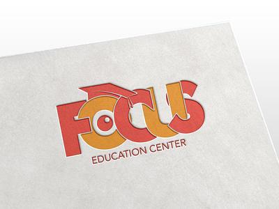 Focus EDU Center logodesign branding vector design illustration mongolia focus lab logo focus
