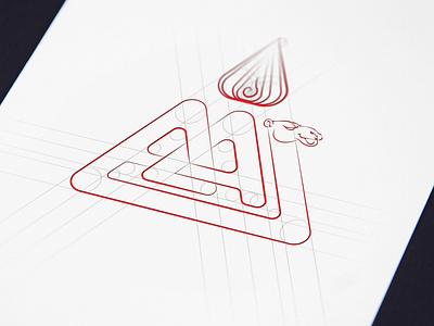 AA Triangle illustration logodesign mongolia logo camel aa