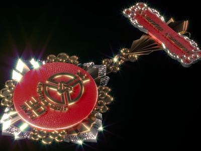 30th Anniversary Medal 30th anniversary ornament golden design anniversary icon mongolia medals