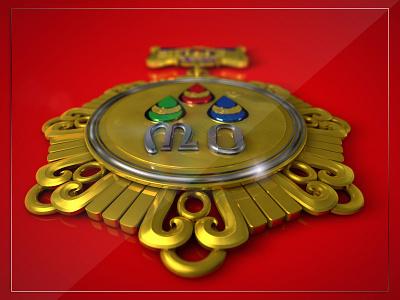 The Medal 3 vector gold 30th anniversary medal illustration golden anniversary logo mongolia
