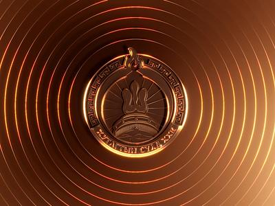 Goldon Logo 3 ornament design golden illustration vector icon mongolia logo design logo