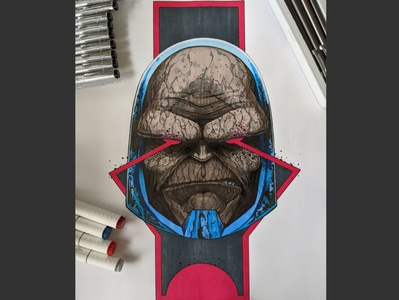 Darkseid Portrait design comic art fanart portrait illustration drawing villians dc dccomics