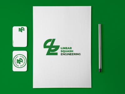 Linear Squash Engineering Branding stationary mockup stationary design branding dribbble graphicdesigner graphicdesign logooftheday logotype logodesign logo