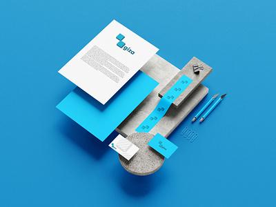 GIZA TECHNOLOGIES Branding dribbble lettermark brandmark logomark mark blue brandlogo customlogo logologodesign graphicdesign design brandidentity identity branding