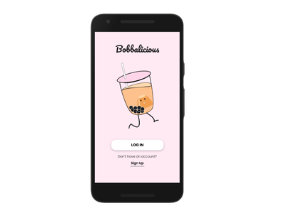 Bobbalicious Bubble Tea Design ui illustrator design bubble tea