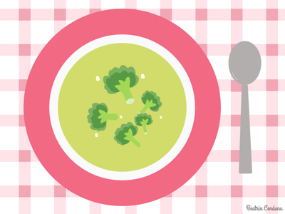 Broccoli Soup Illustration figmadesign figma illustration