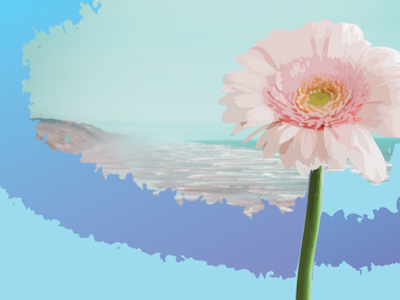 Flower plus beach landscape :) branding design adobe illustration adobe illustrator