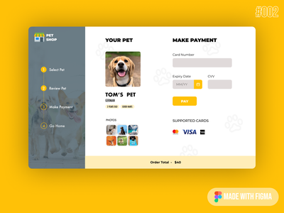 credit card checkout page 002 challenge dailyui