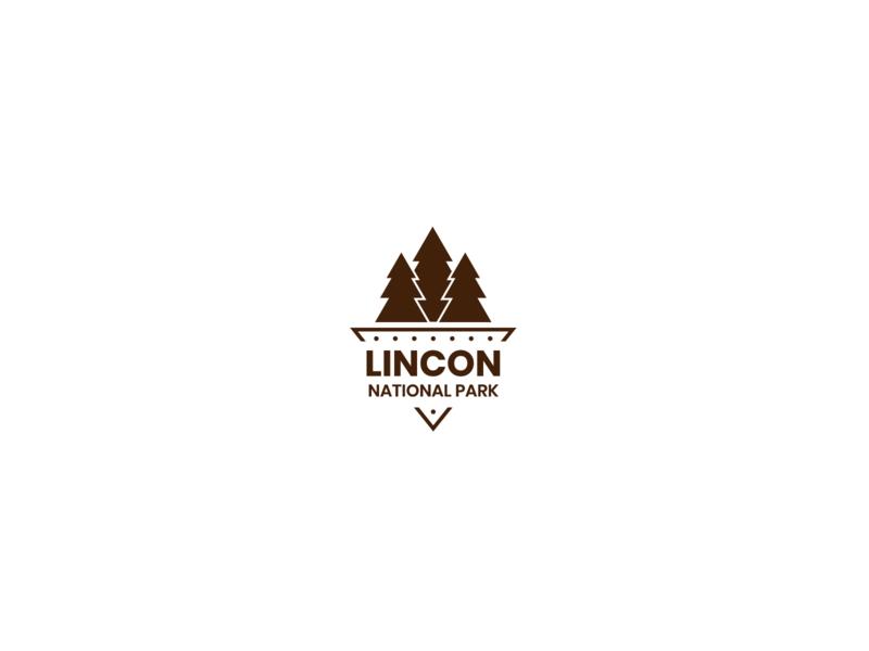 Lincon National Park badge design badgedesign badgelogo white whitespace simple minimal icon illustrator graphicdesign logo graphic flat design daily logo challenge branding brand