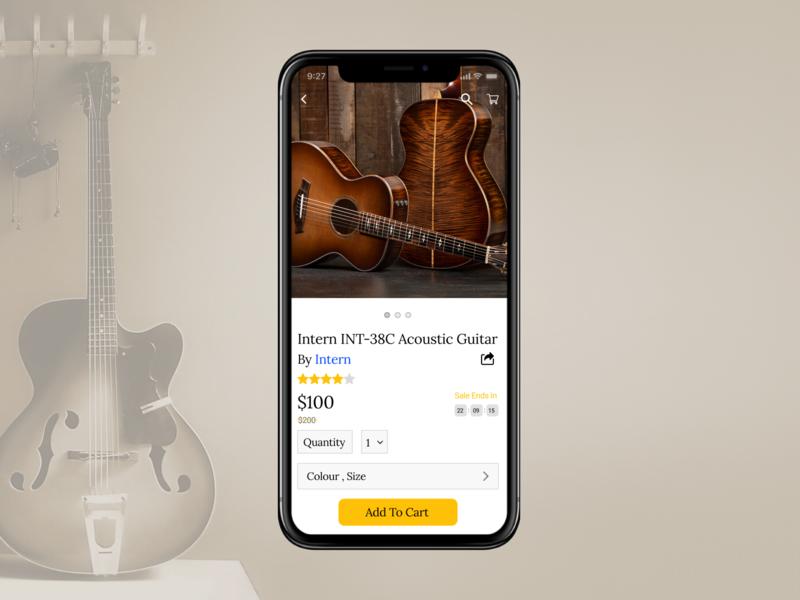 E-Commerce Shop (Guitar)