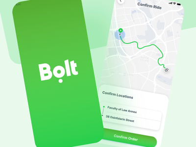 Redesign of Bolt App app design logo ux ui