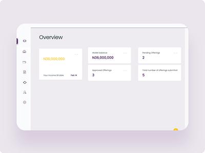 Real estate investment dashboard web website animation design ui ux