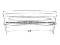 236-Key Upright