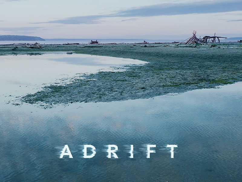 Adrift type water blue
