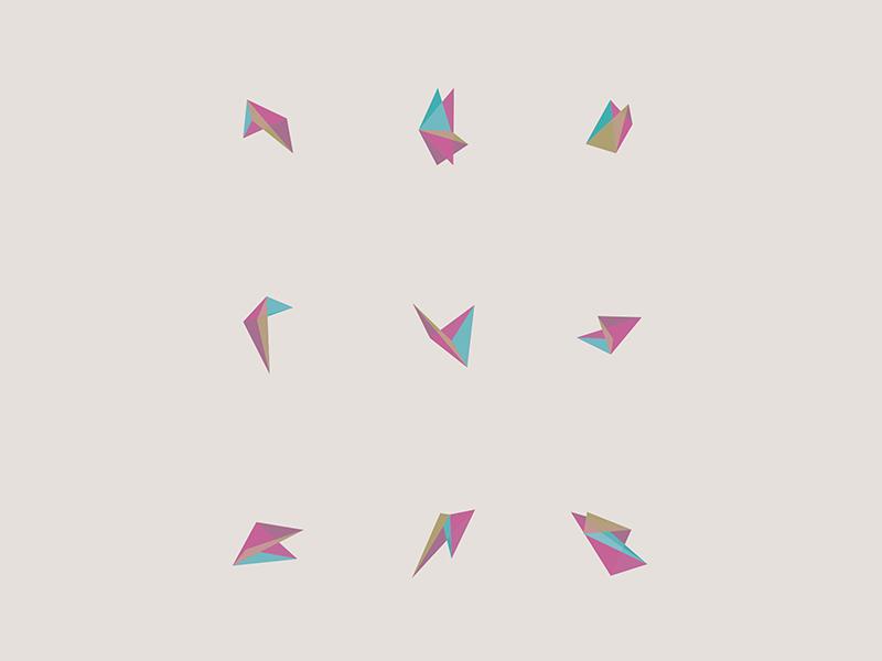 Geometric Exploration shapes painting