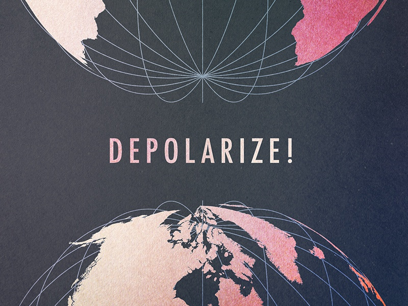 Depolarize world globe politics artwork podcast