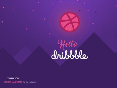 Hello Dribbble ux ui design visualmango thank you thank you card first shot dribbble best shot dribbble invitation invite design