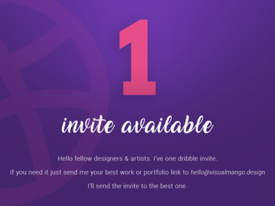 Dribble Invite Giveaway dribbleartist dribbleinvite dribble invites dribble invitation card invitation invite