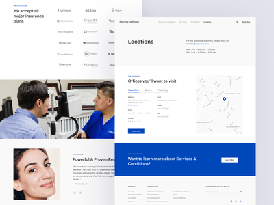 Eye Surgery Clinic – Website Design ui design website landing page interface clean figma adaptive mobile web ux ui design