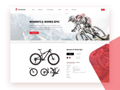 Specialized Product Screen website web ux ui specialized minimal page landing homepage flat design bicycle