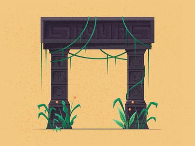 Aztec Ruins aztec ruins ancient symbols vines vine temple ferns jungle aztec ruins