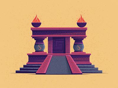 Altar stairs aztec fire sacrifice altar
