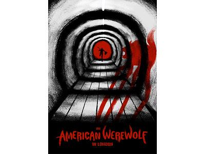 An American Werewolf in London running wolf muti movie horror werewolf poster