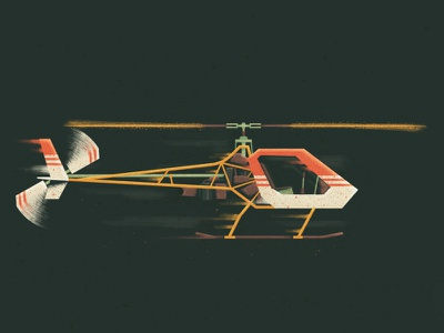 Helicopter flying motion digital illustration helicopter