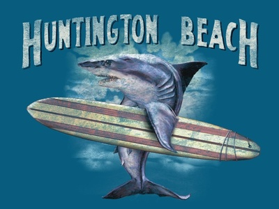 ZOT1995 Surfer Shark longboard surfboard surfer shark
