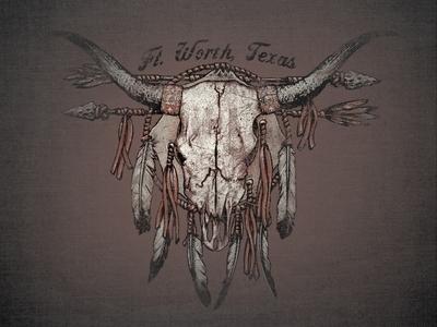 ZOT1826 Longhorn  dreamcatcher longhorn steer skull bull