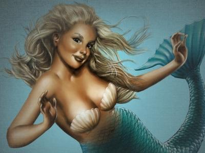 A Mermaid 1 (Layered PSD) Illustration mermaid mermaden layered psd
