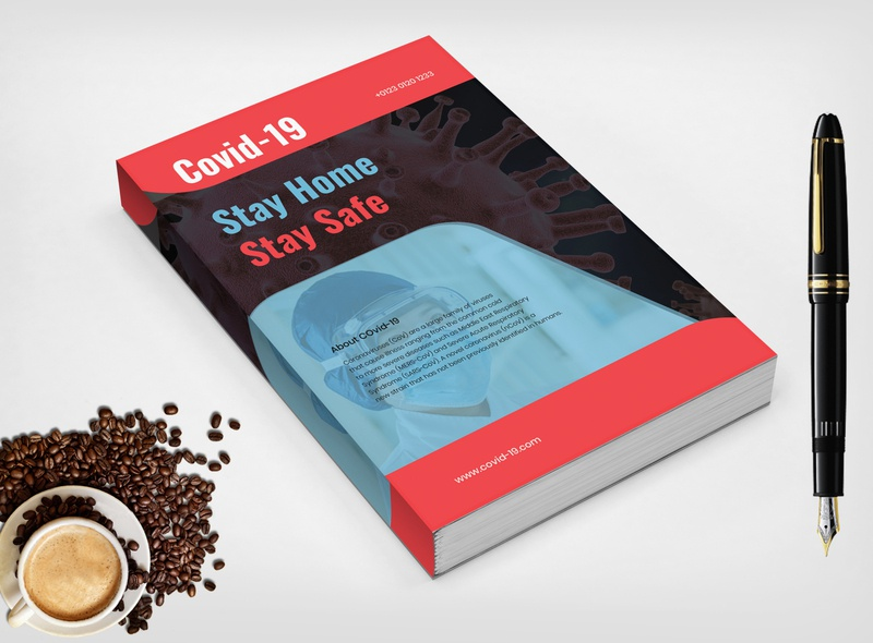 This is a COVID-19 Book cover design. graphic inspiration graphicdesign print design ebook cover book cover coronavirus covid-19