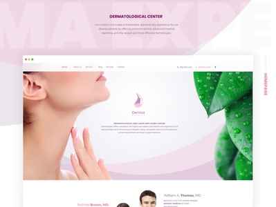 Dermatological Center website web development company website dermatology dermatique for skin care center webdesign web ux branding ui