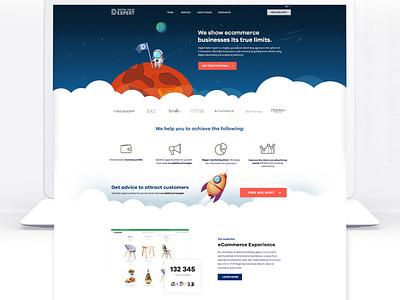 Marketing Agency Website marketing website development company web development company website design illustration ux ui
