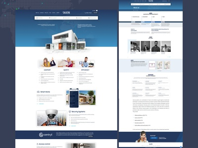 Smart home company website