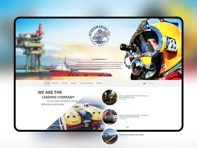 Subsea Solutions website deepsea design heavy duty sea diving subsea typography creative design website web development company ux ui