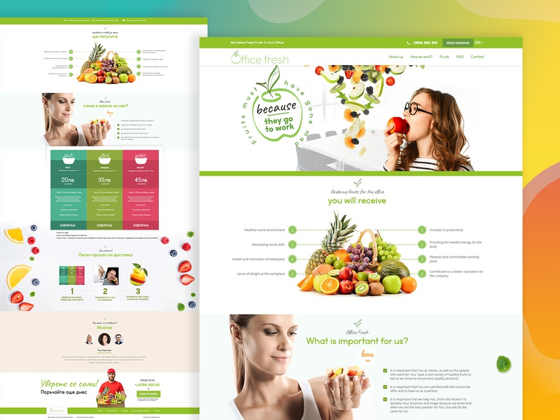 Fresh Fruit Delivery Landing page landingpage store branding brand design website user experience design user experience market fruits and vegetables online onlinestore healthy lifestyle online shopping healthy food delivery green online shop fruits fresh bio ecommerce