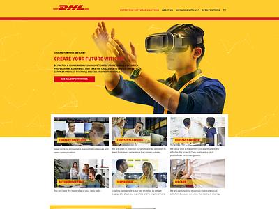 DHL Enterprise software solution website for DHL Bulgaria ui creative webdesign creative design website web development company ux dhl