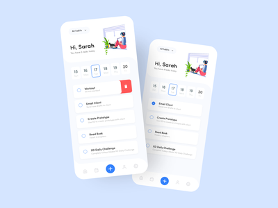 Habit Tracker App concept ui app habits dailyui xddailychallenge adobe xd xd