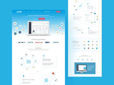 Ruler Analytics Landing Page saas website web designer web design adobe xd xd