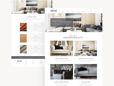 Tetrad Furniture Web design furniture adobe xd adobexd webdesign