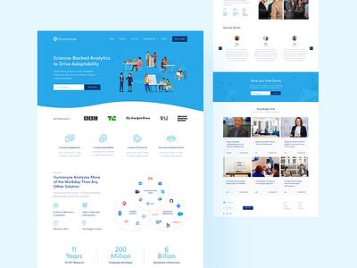 Humanyze Web Design xd tech adobe xd saas website web design saas