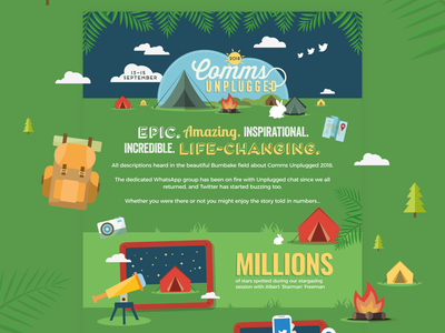 Comms Unplugged vector infographic design infographics infographic
