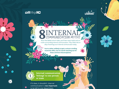 8 Internal Communications Myths infographic design vector infographics infographic