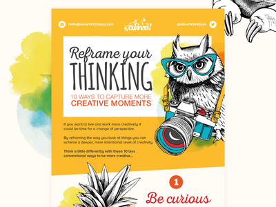Reframe Your Thinking data vector illustration vector infographics infographic